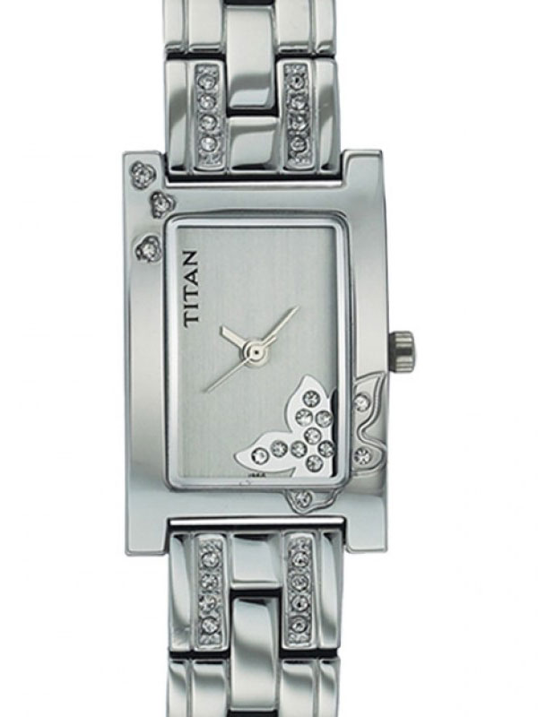 Titan White Wrist Watch