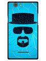 Snooky Designer Print Hard Back Case Cover For Xolo A500s - Blue