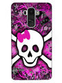 Snooky Digital Print Hard Back Case Cover For LG G4 Stylus - Purple
