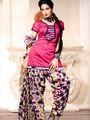 Adah Fashions Designer Cotton-Silk Dress Material - Pink - 114-209