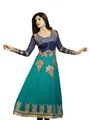 Adah Fashions Georgette Semi Stiched Salwar Kameez - Green - 501-6006