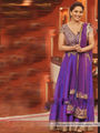 Arisha Georgette Embroidered Semi-Stitched Anarkali Suit - Purple