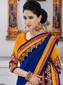 Bahubali Georgette Embroidered Saree - Purple - GA.50227