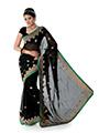 Designer Chiffon Saree - Black-1381