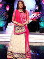 Celebrations Special Pink & Cream Lehenga Saree from Aaha Enna Porutham (806-G)
