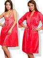 Set of 2 Clovia Blended Plain Nightwear - Reddish Pink