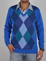 Branded  Full Sleeves Wollen Sweaters For Men - Blue