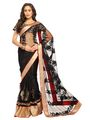 Designer Sareez Net Embroidered Saree - Black-1455