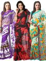 Pack of 3 Florence Printed Faux Georgette Saree - FL_Dani6_ 3_4