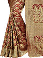 Shonaya Woven Handloom Banarasi Art Silk Sarees -Hikbr-Banarsi-4-Red