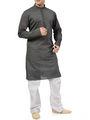 Ishin Cotton Plain Kurta Pajama For Men_indsh-103 - Grey