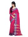 Ishin Cotton Embroidered  Saree - Pink