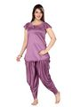 Ishin Satin Solid Nighty Set - Purple_SULDR-9418-A
