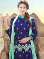Viva N Diva Semi Stitched Chanderi Silk Embroidered Dress Material Mariyaam-1001