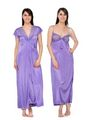 Set of 2 Satin Plain Nightwear-ONW_1_3002_LAVENDER