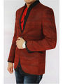 Runako Solid Regular Full sleeves Semi Formal Blazer For Men - Maroon