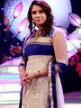 Royal Beige & Blue Anarkali Designer Dress Material from Aaha Enna Porutham (710)