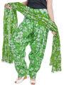Shop Rajasthan 100% Pure Cotton Floral Print Patiala Salwar - Light Green - SRI2080
