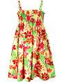 ShopperTree Orange and Green Printed Dress_ST-1388
