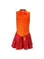 ShopperTree LINEN COTTON  Plain Girls Skirt Set - Red