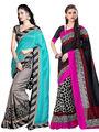 Pack of 2 Thankar Printed Bhagalpuri Saree -Tds137-199.200