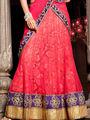 Viva N Diva Net Embroidered Lehenga - Dusty Pink