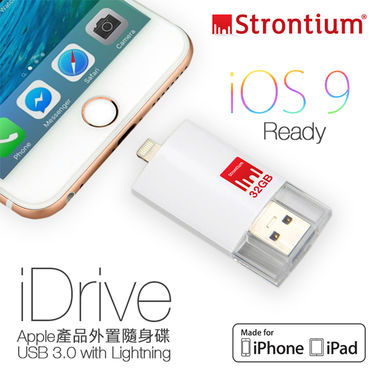 Strontium Nitro IDrive 3.0 OTG Pendrive For IOS 32 GB Utility Pendrive ( White )